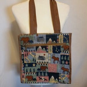 Blue Canvas Wilderness Tote Bag